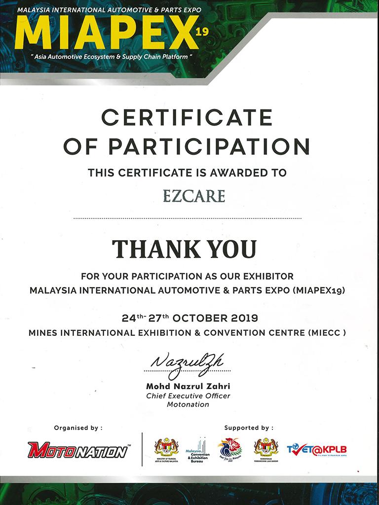 Malaysia International Automotive & Parts Expo (MIAPEX 19)